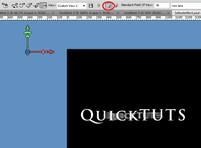 3dtexteffect6 Работа с текстом в Photoshop: 3D рассеивающиеся пучки света вокруг текста
