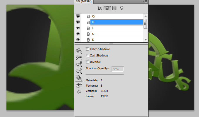 3d text effect 16 Работа с текстом в Photoshop: Создание 3D текста, используя возможности CS5