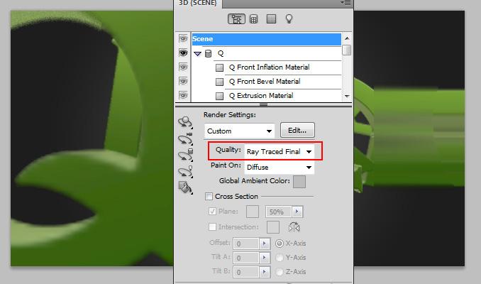 3d text effect 17 Работа с текстом в Photoshop: Создание 3D текста, используя возможности CS5