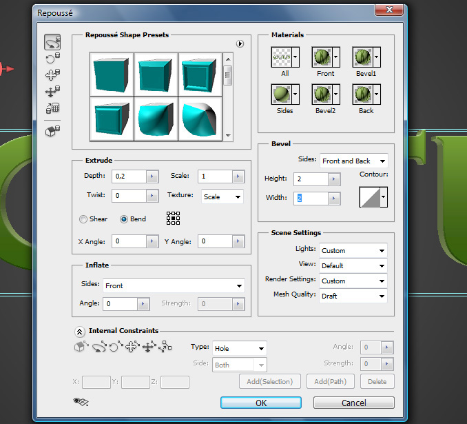 3d text effect 7 Работа с текстом в Photoshop: Создание 3D текста, используя возможности CS5