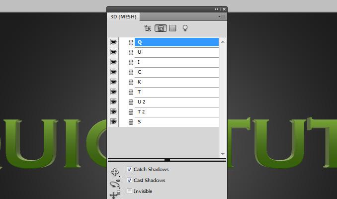 3d text effect 9 Работа с текстом в Photoshop: Создание 3D текста, используя возможности CS5