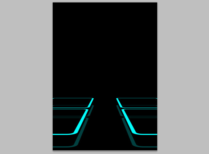TRON Legacy poster 10 Дизайн в Photoshop: Создание плаката в стиле фильма Трон: Наследие