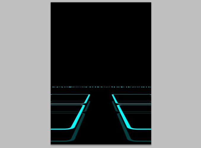 TRON Legacy poster 14 Дизайн в Photoshop: Создание плаката в стиле фильма Трон: Наследие