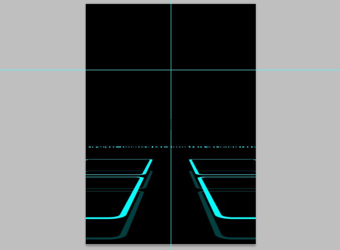 TRON Legacy poster 15 Дизайн в Photoshop: Создание плаката в стиле фильма Трон: Наследие