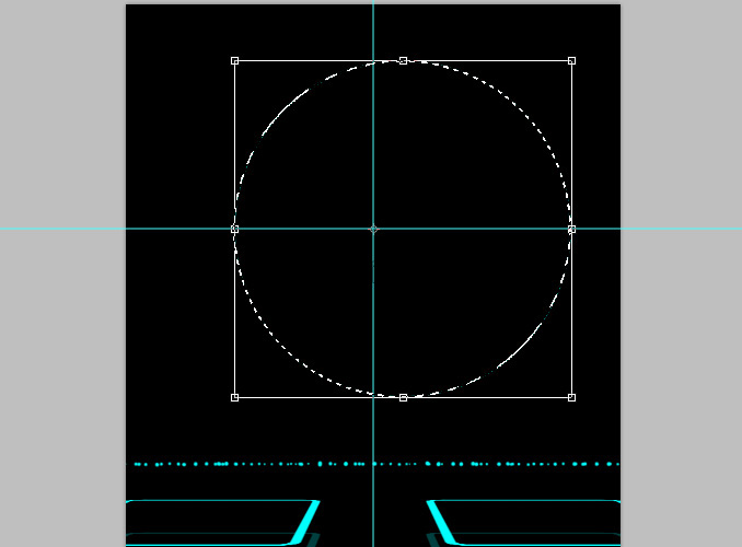 TRON Legacy poster 17 Дизайн в Photoshop: Создание плаката в стиле фильма Трон: Наследие