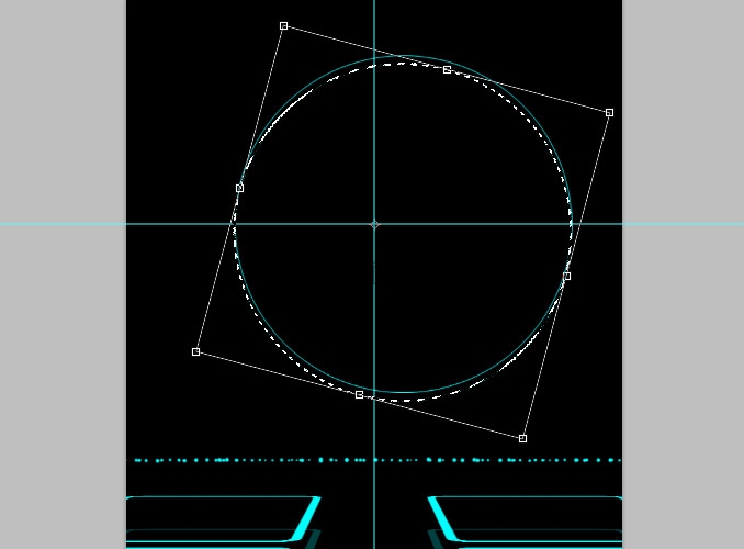 TRON Legacy poster 18 Дизайн в Photoshop: Создание плаката в стиле фильма Трон: Наследие