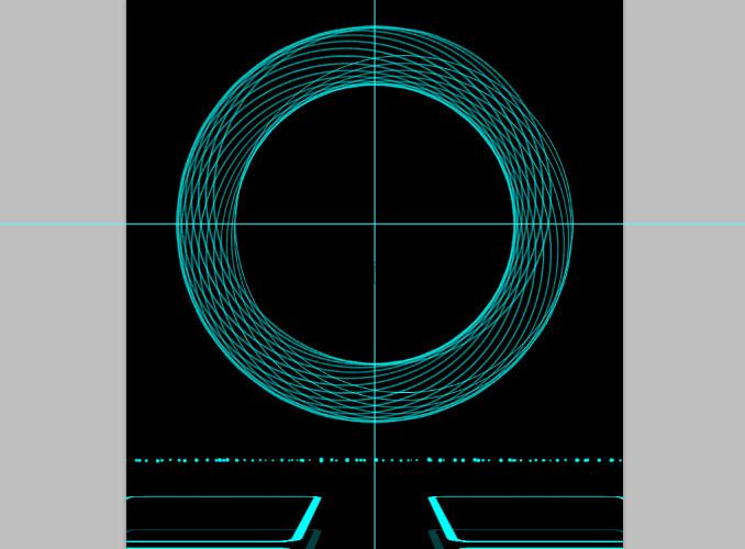 TRON Legacy poster 19 Дизайн в Photoshop: Создание плаката в стиле фильма Трон: Наследие