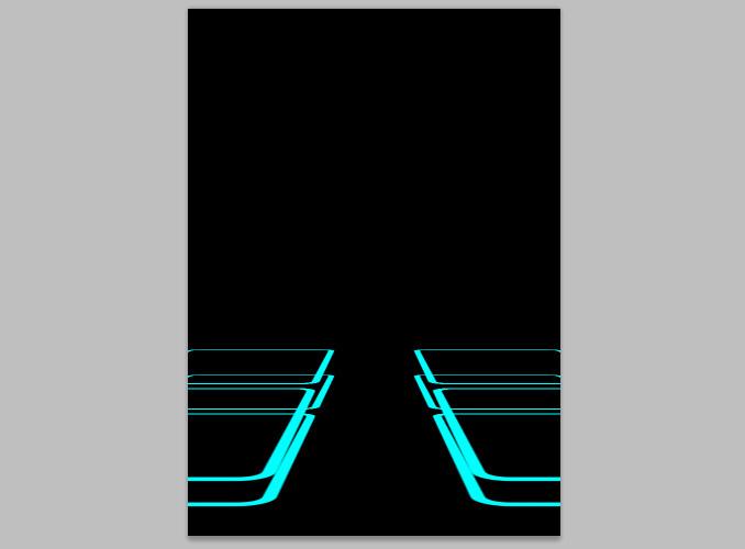 TRON Legacy poster 9 Дизайн в Photoshop: Создание плаката в стиле фильма Трон: Наследие